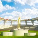 Olympic Stadium with podium — Stock Photo