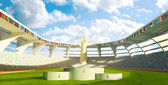 Olympic Stadium with podium — Stockfoto