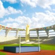 Olympic Stadium - High jump — Stock Photo