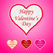 Stock vektor: Happy Valentine's Day Heart Paper