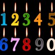 Numbers candles for happy birthday — Stock Vector