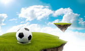 Soccer in the sky — Stock Photo