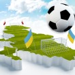 Poland and Ukraine European Soccer championship — Stock Photo