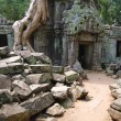 In temples of Angkor - Stock Photo