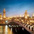 Stock Photo: Alexandre 3 Bridge - Paris - France