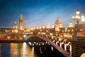 Alexandre 3 most - paříž - francie — Stock fotografie