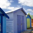 Bathing boxes on Brighton beach next to Melbourne, Australia - Стоковая фотография