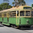 Old Tram way in Melbourne - Australia - Foto de Stock  