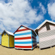 Stock Photo: Bathing boxes on Brighton beach next to Melbourne, Australia