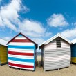 Bathing boxes on Brighton beach next to Melbourne, Australia — ストック写真