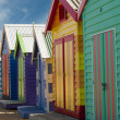 Bathing boxes on Brighton beach next to Melbourne, Australia — Stock Photo #8416915