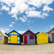 Bathing boxes on Brighton beach next to Melbourne, Australia — Stok fotoğraf
