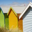Bathing boxes on Brighton beach next to Melbourne, Australia — Stockfoto