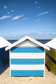 Bathing boxes on Brighton beach next to Melbourne, Australia — Stock Photo