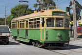 Alte straßenbahn-weise in melbourne - australien — Stockfoto