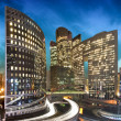 La defense by night - Paris - France — Stock Photo