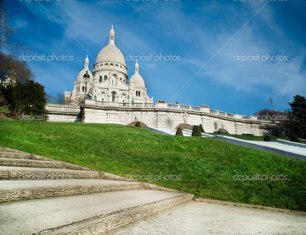 Sacred Heart in Montmartre - Paris - France — Stock Photo #9163303
