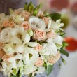 Pink and white wedding bouquet in a vase — Photo