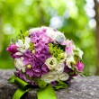 Stock Photo: Pink and white wedding bouquet