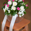 Pink and white wedding bouquet — Stockfoto