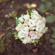 Pink and white wedding bouquet — Foto de Stock