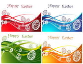 Happy Easter background collection — Vector de stock