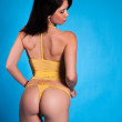 Yellow lingerie — Stock Photo