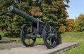 Old Russian gun at the Artillery Museum. Saint-Petersburg — Stock Photo