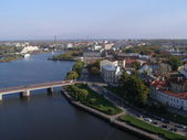 View of the central part of the town of Vyborg — Stock Photo