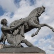 "Sculpture ""Taming of wild horses"" on Anichkov bridge. — Stock Photo #8276347"