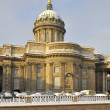 Fragment of KazCathedral in winter day. Saint-Petersburg — Stockfoto #8276445