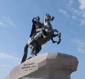 Pomnik piotra pierwszy na placu senatu. sankt petersburg — Zdjęcie stockowe