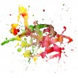 Abstract watercolor blot - Stock Photo