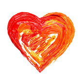 Heart painted — Stock Photo