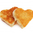 Heart bread toast — Stock Photo