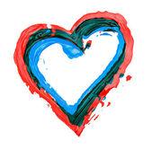 Coeur peint contour — Photo
