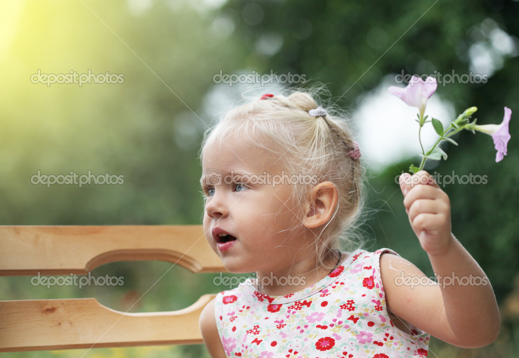 Portrait of a little baby child girl  Stock Photo #9757812