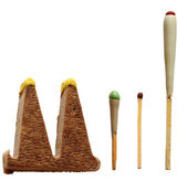 Different matchsticks for hunting, isolated — Stock Photo