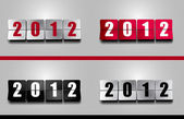 New 2012 Year Flip Counter — Stock Vector