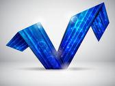 Mavi vektör kartı — Stok Vektör