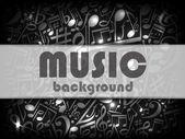 Karta muzyczna szary — Wektor stockowy