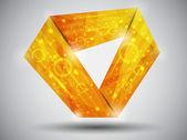 Tarjeta naranja vector — Vector de stock