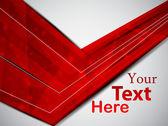 Cartão vermelho — Vetor de Stock