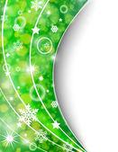 Green abstract card — Cтоковый вектор