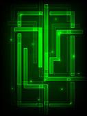 Zelený plakát — Stock vektor