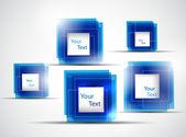 Blue frames — Stockvektor
