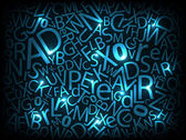 Neon letters — Stock Vector