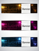 Love banners — Stockvektor
