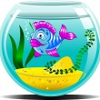 Blue aquarium — Stock Vector