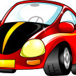 Small red car - Stock Vector